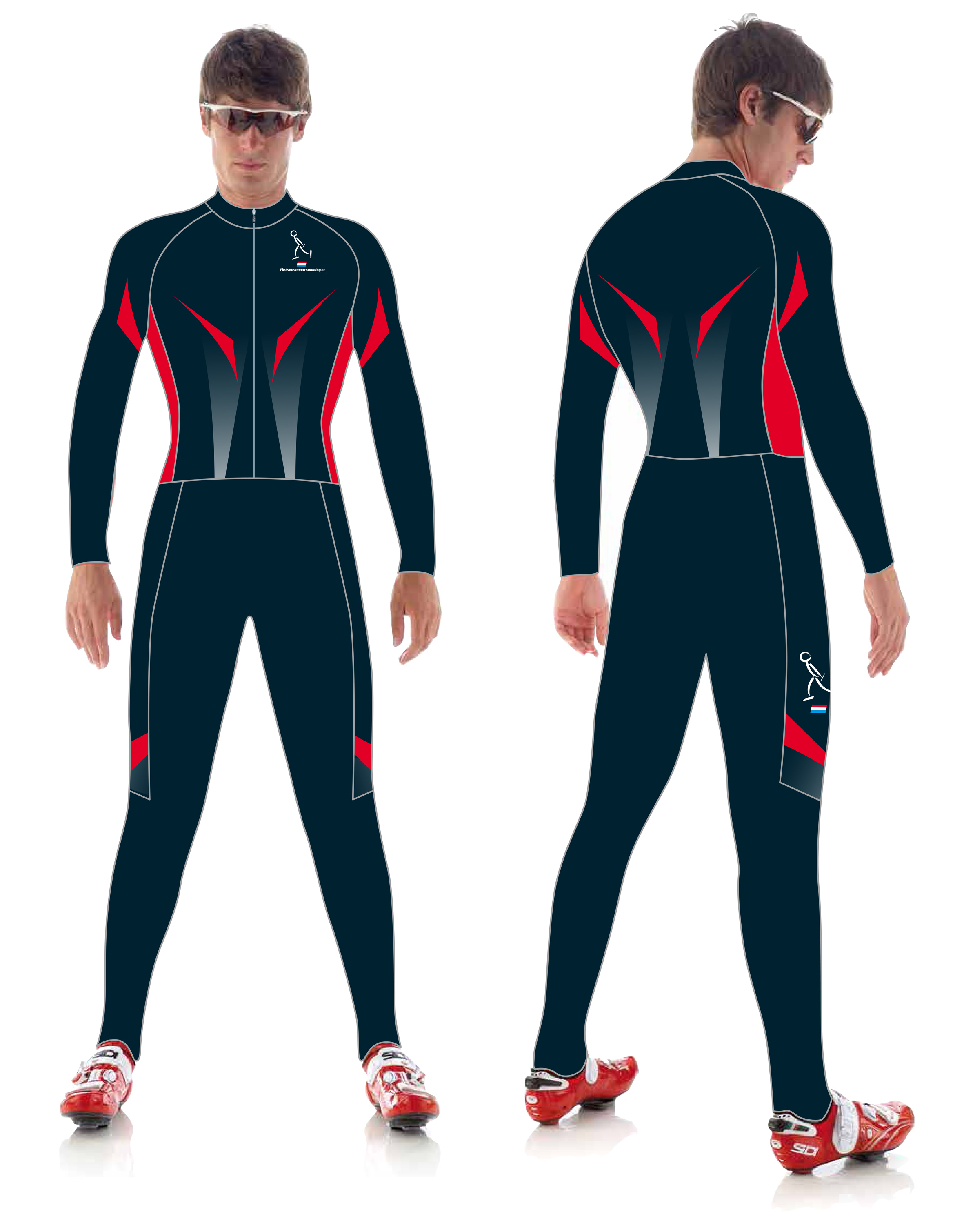 Hajo Red thermo schaatspak